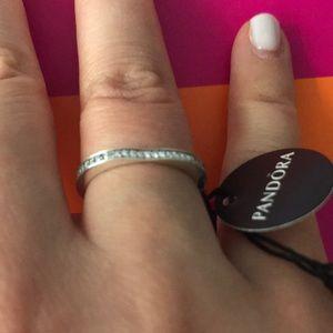 110daa82c2a Pandora Jewelry   Sparkling Arcs Of Love Ring Clear Cz   Poshmark